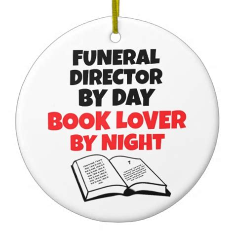 funeral director books book lover funeral director ceramic ornament zazzle