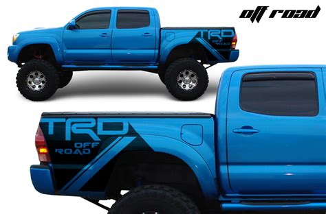 Toyota Tundra Decals Stickers Toyota Tacoma Trd 05 15 Vinyl Graphics For Bed Fender