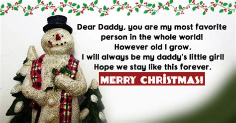 dear daddy     christmas messages  dad