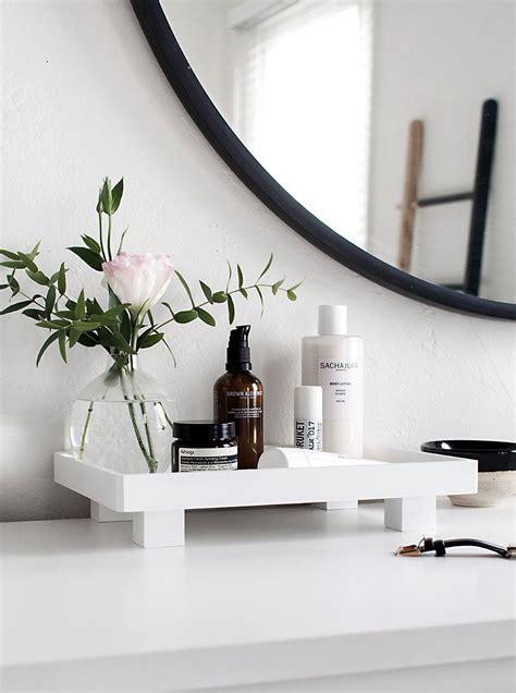 diy footed vanity tray wood tray master bath and vanities