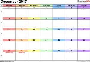 Calendar December 2017 December 2017 Calendar Weekly Calendar Template