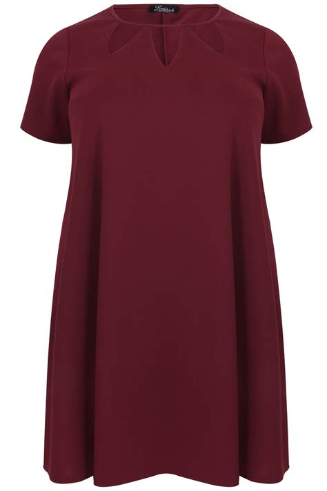 burgundy swing dress burgundy cut out textured swing dress plus size 14 to 36