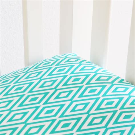 turquoise bed sheets turquoise and white diamond crib sheet by oliver b
