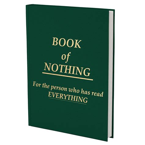 the nothing books book of nothing book with no words