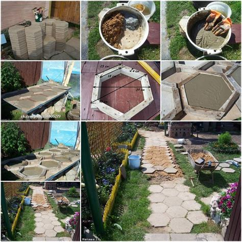 do it yourself backyard projects how to make hexagon paving stones step by step diy