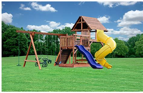 children s outdoor swing sets custom swing sets by kid s creations