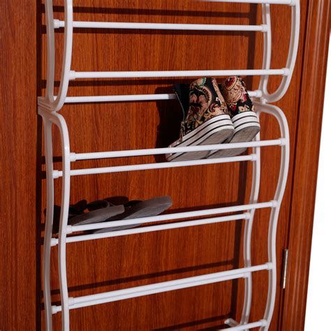 door hanging shoe rack over the door 36 pair wall hanging shoe rack organizer