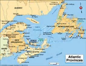 map of atlantic provinces canada canada landscapes