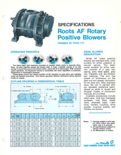specifications pdblowers