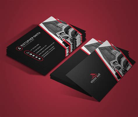 real estate business card template psd free real estate business card psd template