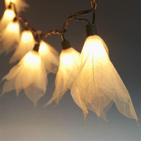 9ft tropical flower lights string lights white 110v ac