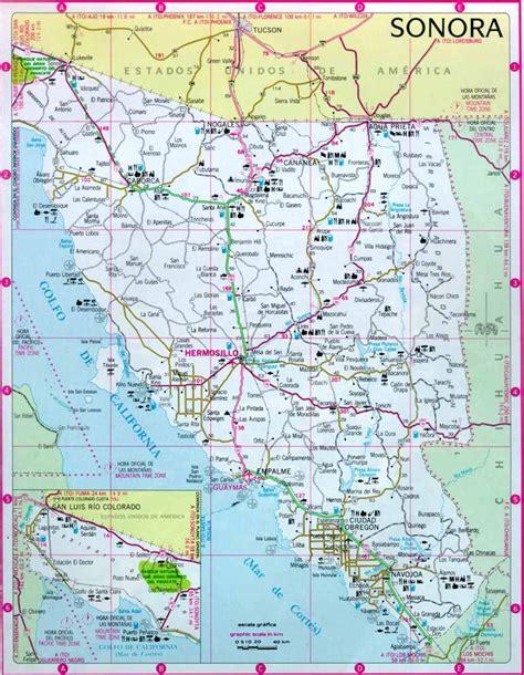 mapa de sonora mexico sonora mexico mapa