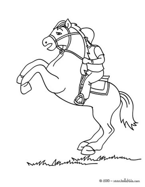 horse trainer coloring page kid on a horse coloring pages hellokids com