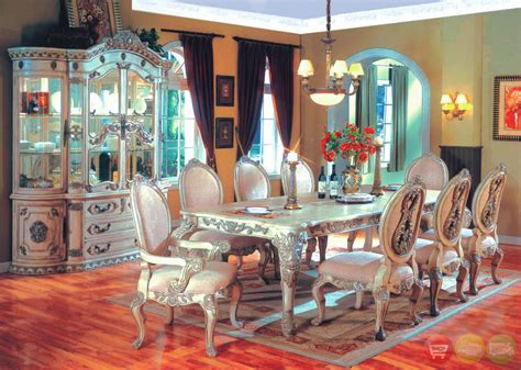 traditional antique white formal dining room furniture set whitehall traditional formal 7 pc dining room set table
