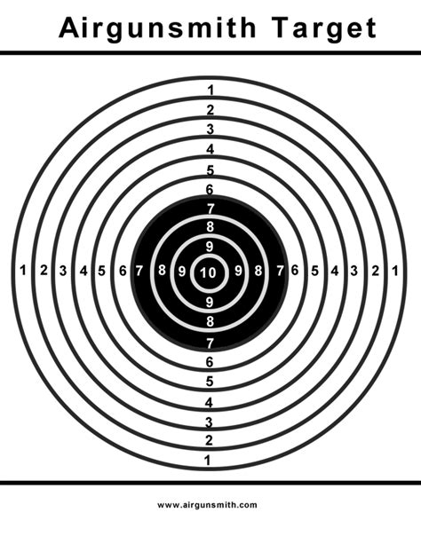 Printable Targets Airguns | printable targets the villages air gun club