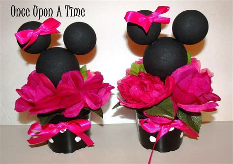 2 minnie mouse decorations by onceuponatimeshoppe on