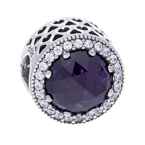 Pandora Radiant Hearts With Royal Purple And Clear Cz Ch P 751 pandora silver royal purple radiant charm 791725nrp the hut