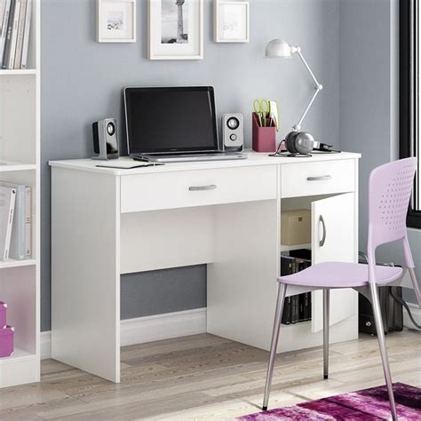 white desk small south shore axess small computer desk in white 7250070