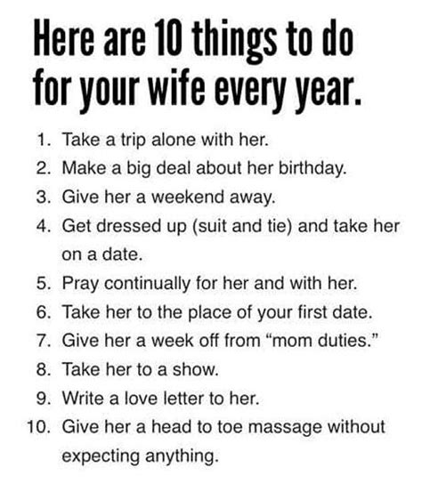 7 Things To Do With Your Fiance by 10 Things To Do For Your Husband Every Year Girlsaskguys