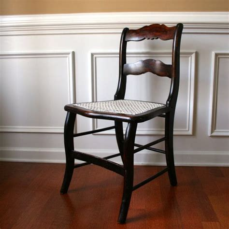 Caning Chair - antique wood accent chair with caning desk boudoir dining