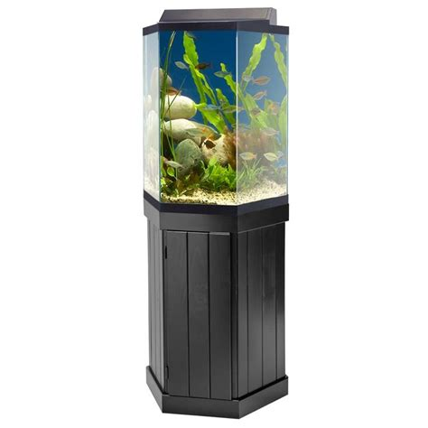 hexagon fish aquarium  stand aquarium ideas