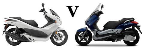 better max versus honda pcx125 vs yamaha x max 125 visordown