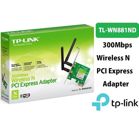 Tp Link 781nd Wireless N Pci Express Card 150mbps tp link wireless n300 pci express adapter 2 4ghz 300mbps tl wn881nd personal computer center