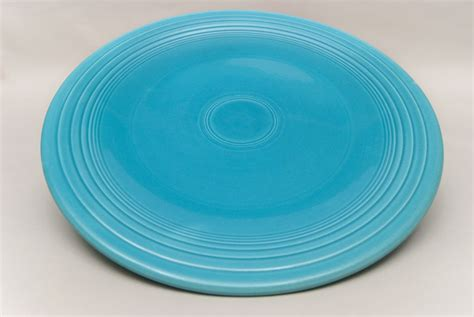 Turquoise For Sale by Vintage Fiestaware Pottery Large 15 Inch Chop Plate In
