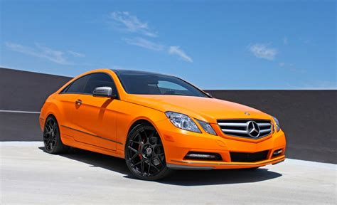 Sunkist Orange Mercedes E Coupe On Hre Wheels