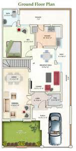 3 Bed 2 Bath Floor Plans 8 marla floor plan a izhar monnoo developers