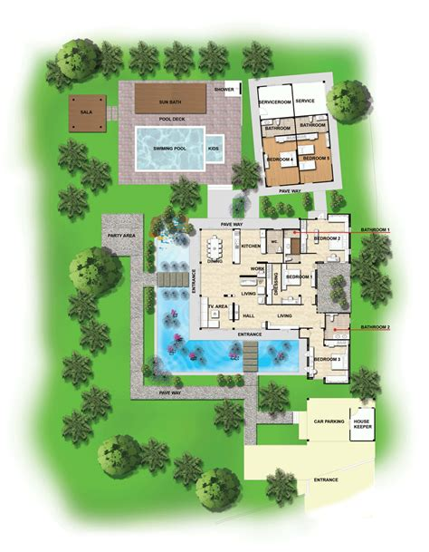 layout design of villa villa layout ao nang krabi thailand