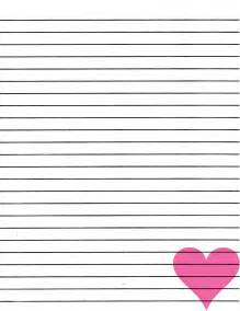 Heart Writing Paper Christmas Border Lined Writing Paper New Calendar