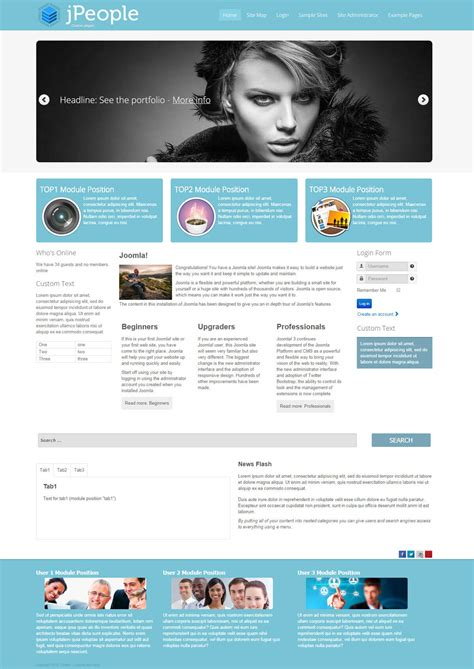 jpeople business oriented joomla free template