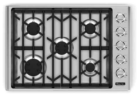 Viking 30 Cooktop viking professional 30 quot gas cooktop with 5 sealed brass burners stainless steel cooktops los