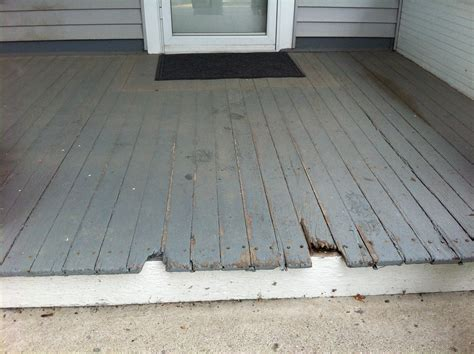 Windfang Flur by Treated Wood Porch Floor Replacement Bryan Ohio