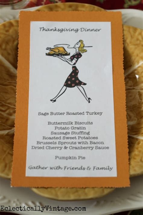 Thanksgiving Menu Cards
