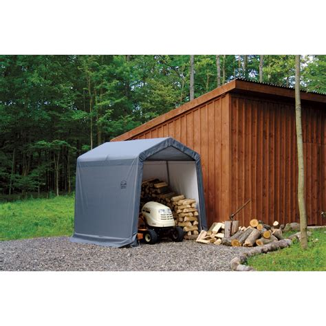 shed in a box shelterlogic sport shed in a box snowmobile motorcycle shed 10ft l x 6ft w x 6 1 2ft h model