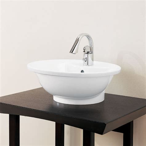 basin sink porcher l expression round above counter basin bathroom