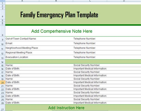 family emergency plan template family emergency plan template wallpaper