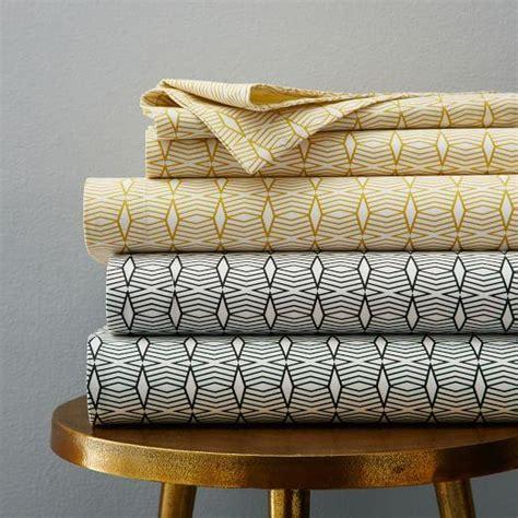 yellow pattern sheet set black and white whale sheet set