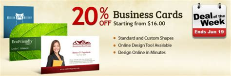 Deal Of The Week 20 At Pagesargissoncom by Deal Of The Week Uprinting Slashes 20 Business