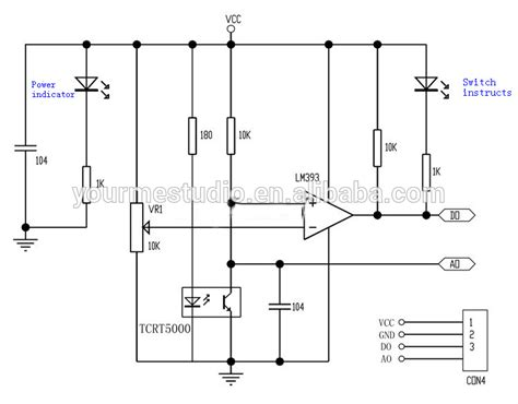 Ir Reflective Line Tracking Tracing Module Tcrt5000 tcrt5000 ir barrier line track sensor infrared reflective