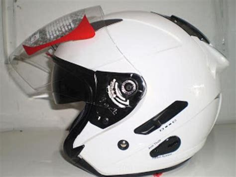 Helm Anak Kyt Jual Kyt Galaxy Slide White Visor Putih Solid