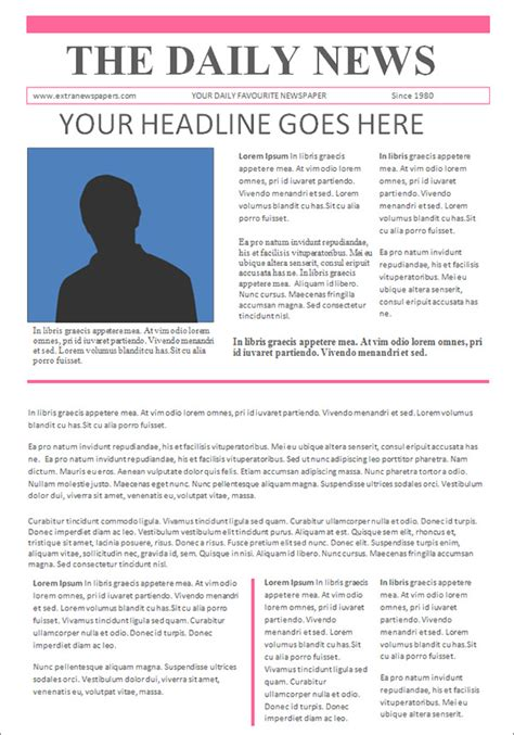 free newspaper template school newspaper template faceboul