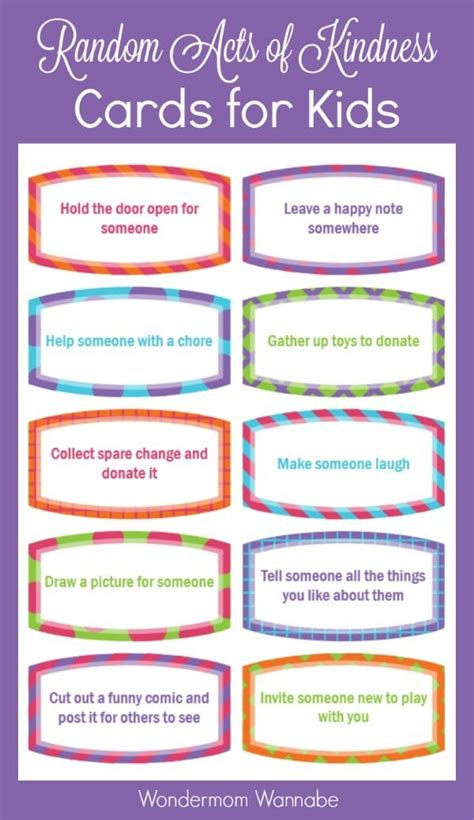 kindness cards template free random acts of kindness cards for