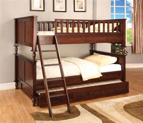 cherry bunk beds traditional style twin full white bunk bed