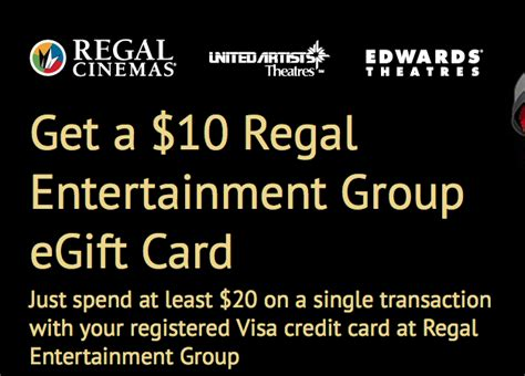 Regal Entertainment Group Gift Card Check Balance - free 10 egift card with visa 20 purchase