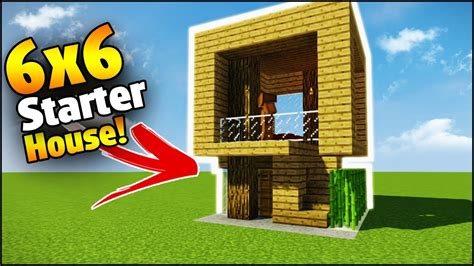 make a house minecraft 6x6 starter house tutorial how to build a