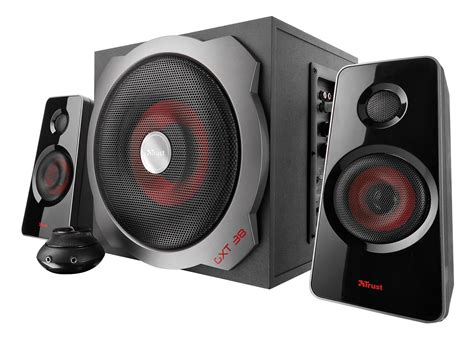 Speaker Komputer Bass trust gxt 38 enceintes 2 1 gaming pour pc ps3 et xbox 360 fr informatique
