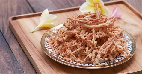 resep jamur enoki goreng crispy renyah  tahan  oleh